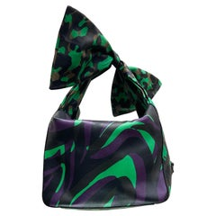 S/S 2016 Look # 11 NEW VERSACE GREEN MILITARY LEATHER BAG