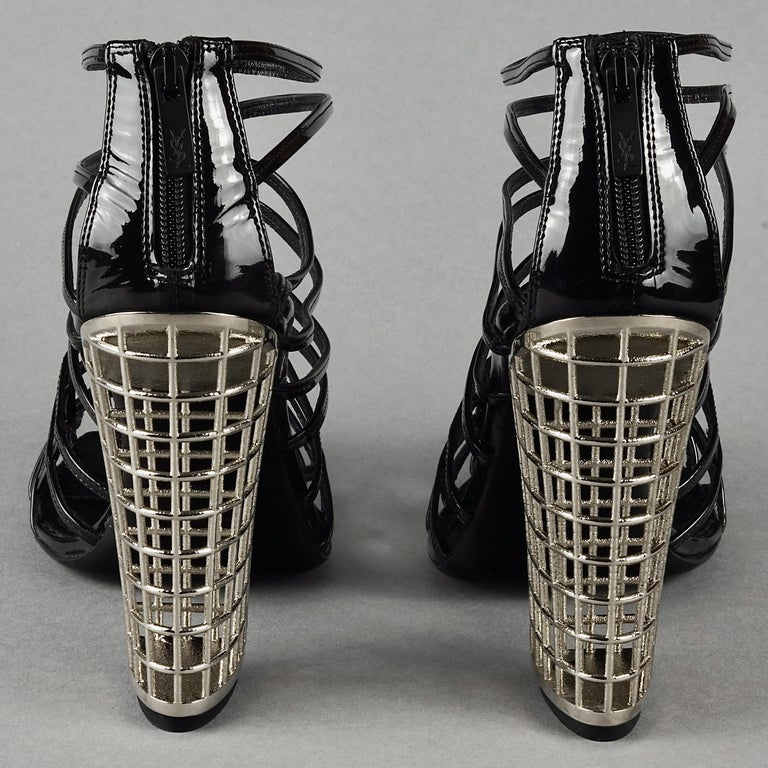 S/S2009 YVES SAINT LAURENT Ysl Cage Heel Ankle Boots For Sale 2