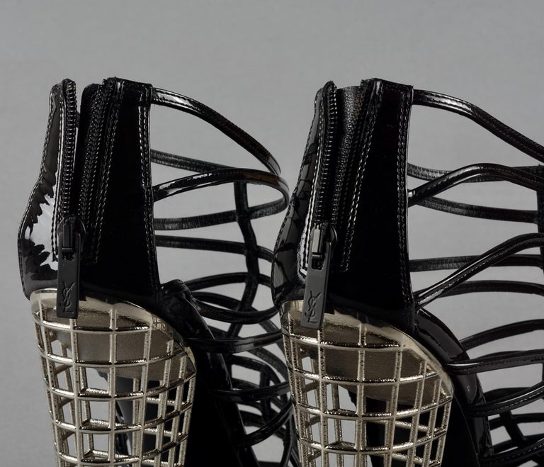 S/S2009 YVES SAINT LAURENT Ysl Cage Heel Ankle Boots For Sale 3