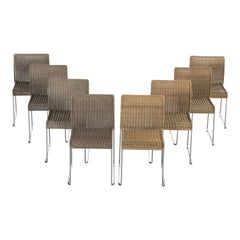 S21 Bicolor Rattan Chairs by Tito Agnoli for Pierantonio Bonacina