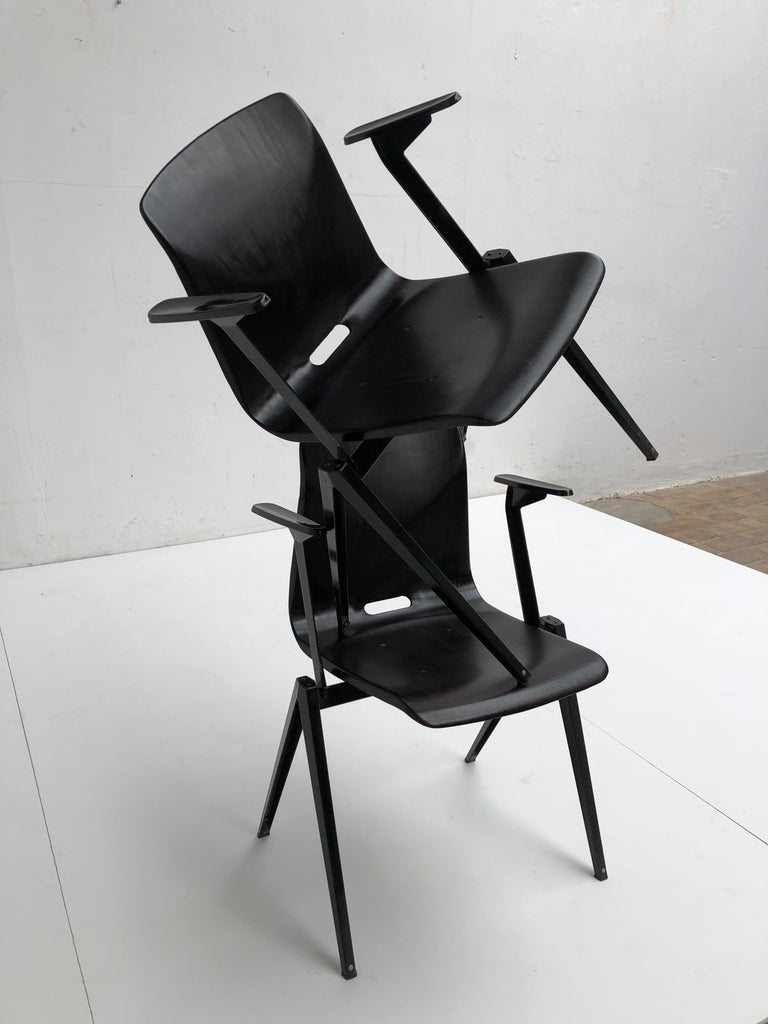 S22 Pyramid Stackable Armchair by Galvanitas The Netherlands, 1960s For Sale 5