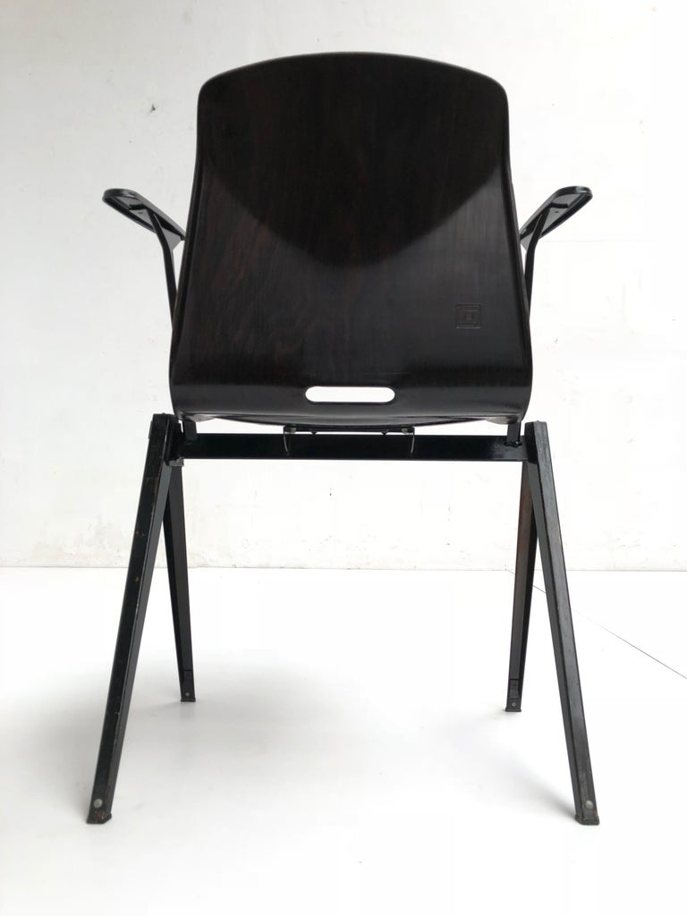 Dutch S22 Pyramid Stackable Armchair by Galvanitas The Netherlands, 1960s For Sale
