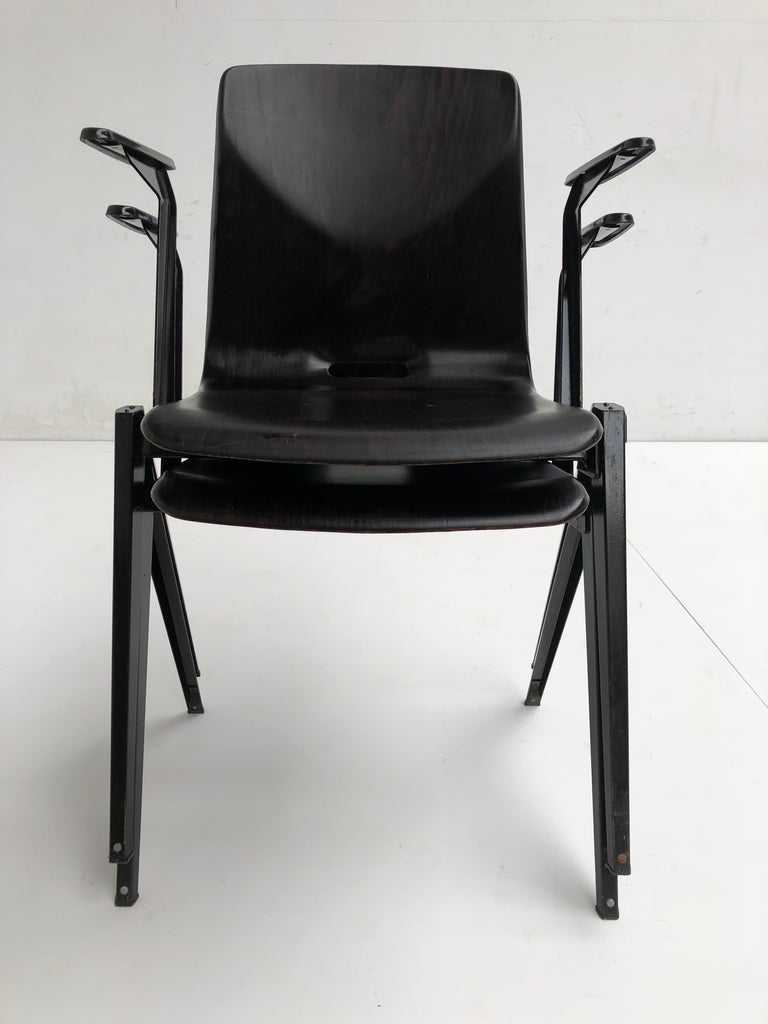 S22 Pyramid Stackable Armchair by Galvanitas The Netherlands, 1960s For Sale 1