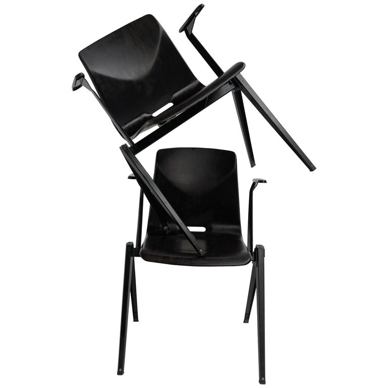 S22 Pyramid Stackable Armchair by Galvanitas The Netherlands, 1960s For Sale