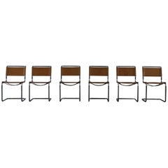 S33 Dining Chairs in Leather by Mart Stam for Thonet, 1980s, Set of 6