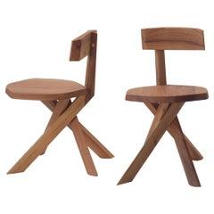 S34A Wood Chair von Pierre Chapo