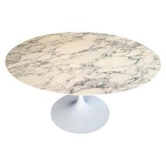 Saarinen Knoll Round Tulip Marble Table, 2010