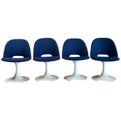 Saarinen Style Crescent Base Swivel Chairs