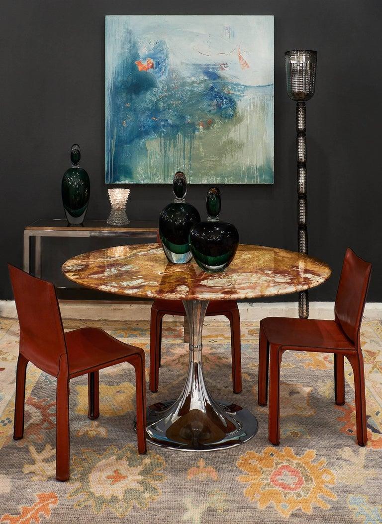 Saarinen Style Onyx Top Modernist Dining Table At 1stdibs
