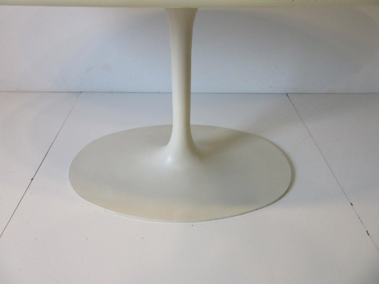 20th Century Saarinen Styled Tulip Based Table Desk by Maurice Burke for Burke International For Sale