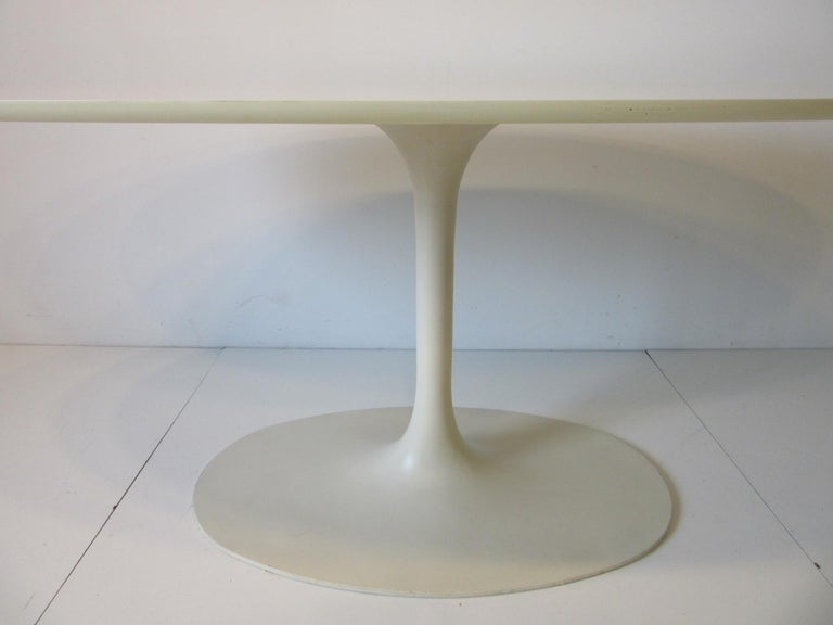 Metal Saarinen Styled Tulip Based Table Desk by Maurice Burke for Burke International For Sale
