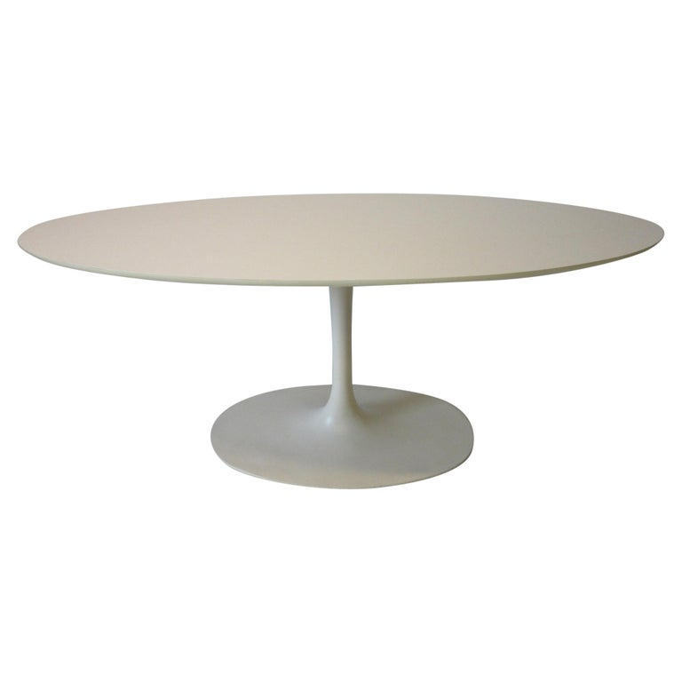 Saarinen Styled Tulip Based Table Desk by Maurice Burke for Burke International For Sale