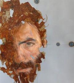 Fregio [Sixth Movement – Lapis] - Contemporary, Mixed Media, Oil Paint