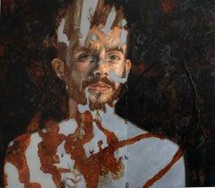Il Dolore è il mio Pastore - Contemporary, Mixed Media, Oil Paint