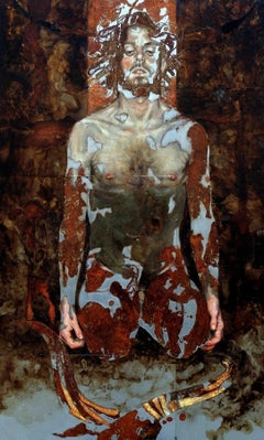 In the Labyrinth (of Borges) - Contemporary, Mixed Media, Oil Paint