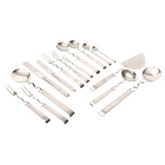 Sabattini Stainless Steel for Rosenthal Flatware Rare Vintage 60 Pieces
