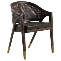 Sabaudia Viennese Cane Armchair by Fratelli Boffi