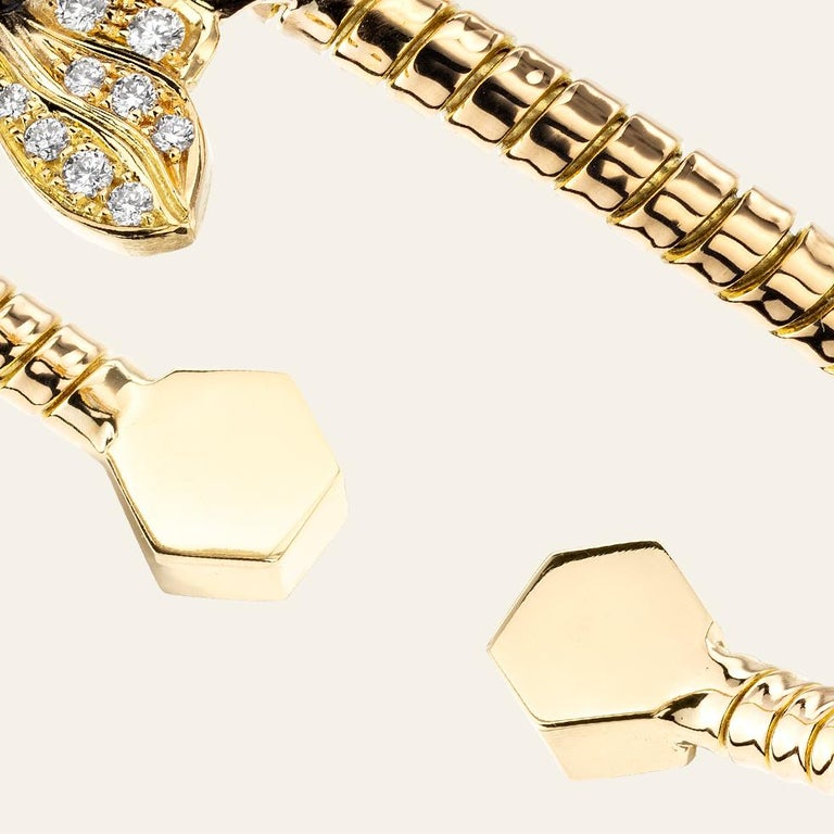 Sabbadini Baby Bee Laquer & Gold Bracelet In New Condition For Sale In Milan, IT
