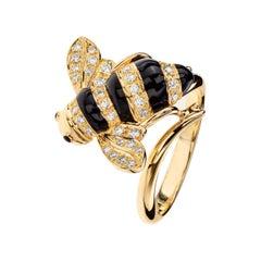 Sabbadini Baby Bee Laquer & Gold Ring