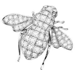 Sabbadini Bee Brooch Invisible Setting Diamonds