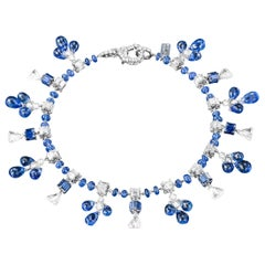 Sabbadini Blue Sapphire and Diamond Charm Bracelet