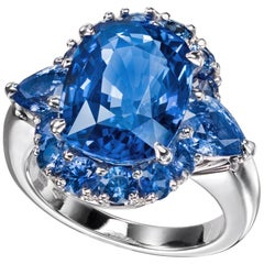 Sabbadini Ceylon Sapphire Cushion Cut Engament Ring
