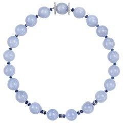 Sabbadini Chalcedony Beaded Necklace