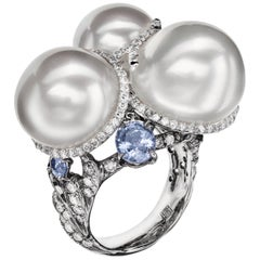 Sabbadini Cocktail Ring with South Sea Natural Pearls