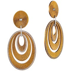 Sabbadini Contemporary Titanium, Gold and Diamond Earrings