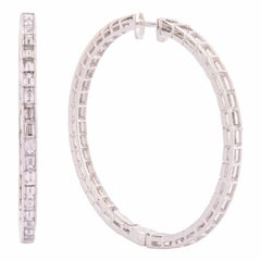 Sabbadini Earrings in White Gold and Diamonds