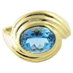 Sabbadini Gioielli 18 Karat Yellow Gold Blue Topaz Ring