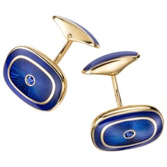 Sabbadini Gold Cufflinks with Cabochon Sapphires, For Men Gifts