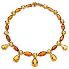 Sabbadini Jewelry 152 Carat Citrine Necklace