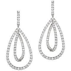Sabbadini Jewelry Diamond Dangle Earrings
