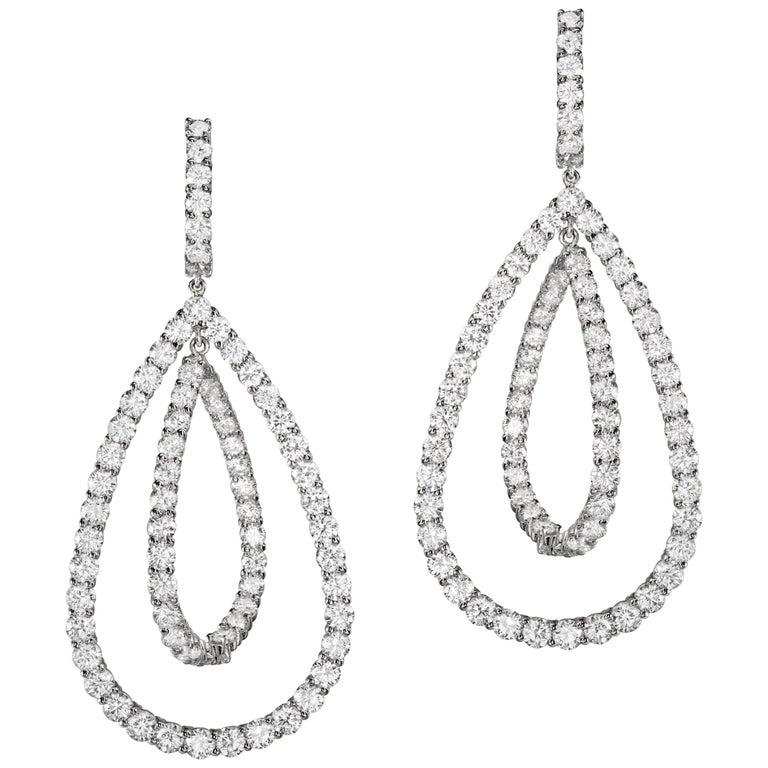 Sabbadini Jewelry Diamond Dangle Earrings For Sale
