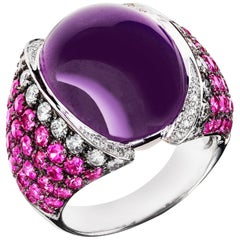 Sabbadini Jewelry Pink and Purple Amethyst Cocktail Ring