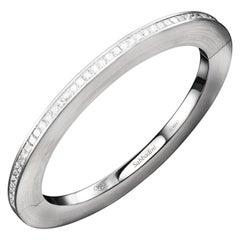 Sabbadini Jewelry Platinum and Diamond Bangle Bracelet