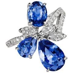 Sabbadini Light Blue Sapphires Ring