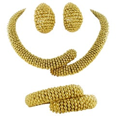 Sabbadini Parure in 18 Karat Yellow Gold