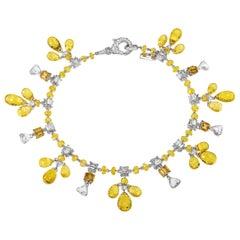 Sabbadini Jewelry Yellow Sapphire Charm Bracelet