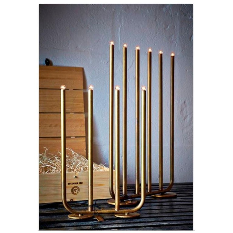 Sabina Grubbeson December 6-Arm Raw Brass by Konsthantverk Tyringe For Sale 3