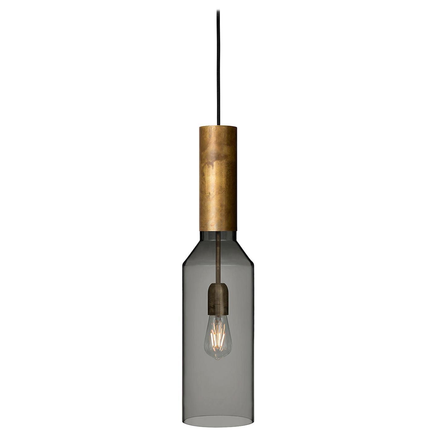 Sabina Grubbeson Fenomen Smal Rök Smoked Glass Ceiling Lamp by Konsthantver