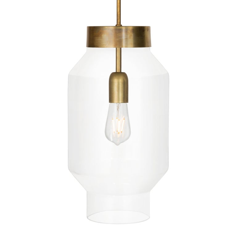 Swedish Sabina Grubbeson Fenomen Stor Clear Glass Ceiling Lamp by Konsthantverk For Sale