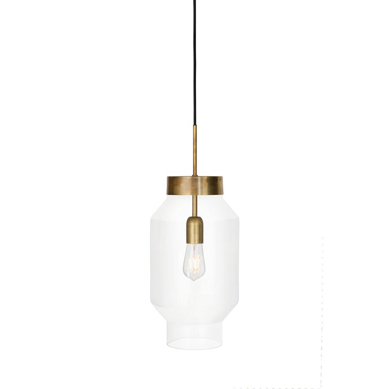 Sabina Grubbeson Fenomen Stor Clear Glass Ceiling Lamp by Konsthantverk In New Condition For Sale In Barcelona, Barcelona