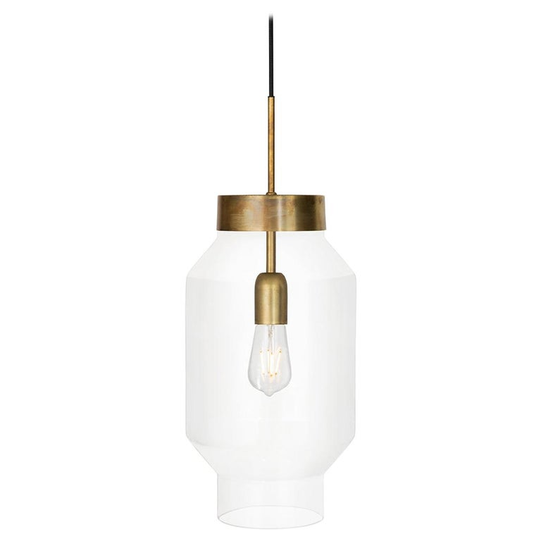 Sabina Grubbeson Fenomen Stor Clear Glass Ceiling Lamp by Konsthantverk For Sale