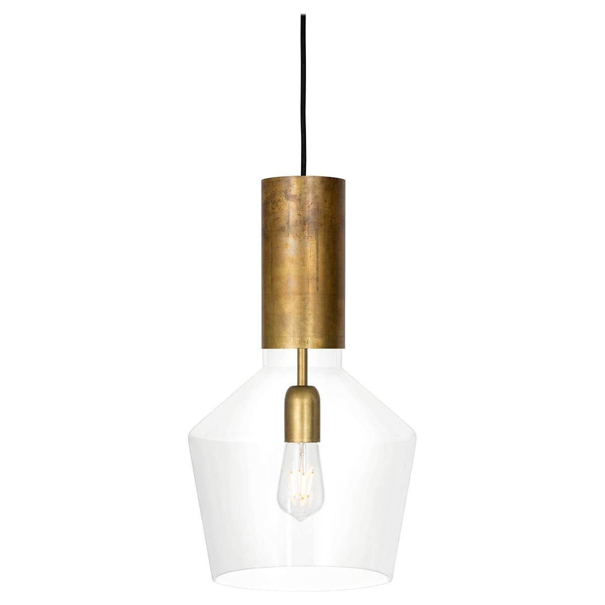 Sabina Grubbeson Fenomen Widh Clear Glass Ceiling Lamp by Konsthantverk