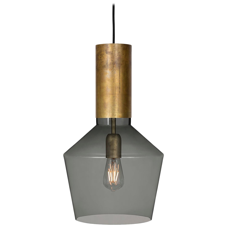 Sabina Grubbeson Fenomen Widh Smoked Glass Ceiling Lamp by Konsthantverk