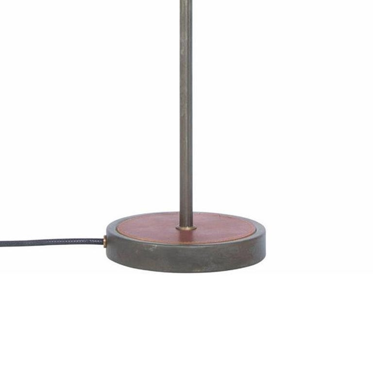 Swedish Sabina Grubbeson Kusk Iron Oxide Leather Table Lamp by Konsthantverk For Sale