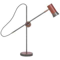 Sabina Grubbeson Kusk Iron Oxide Leather Table Lamp by Konsthantverk