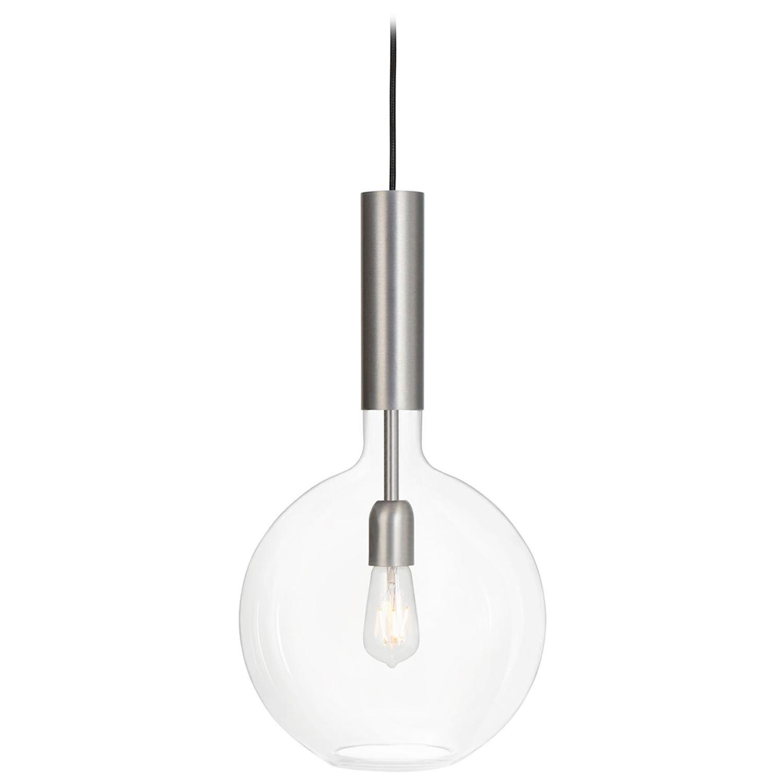 Sabina Grubbeson Rosdala Iron Clear Glass Ceiling Lamp by Konsthantverk
